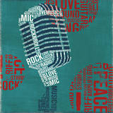 Type Mic Square Prints by Michael Mullan