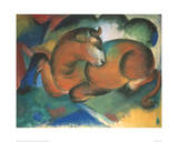 Red bull Giclee Print by Franz Marc