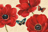 Petals and Wings on Beige I Posters by Daphne Brissonnet