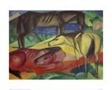 Three Horses II Giclee Print by Franz Marc