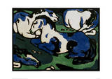 Horses Resting Giclee Print by Franz Marc