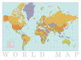 Carta geografica mondiale Stampe
