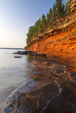 Sandstone Cliffs, Sea Caves, Devils Island, Apostle Islands Lakeshore, Wisconsin, USA Stampa fotografica di Chuck Haney
