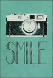 Smile Retro Camera Reproduction transférée sur toile
