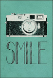 Smile Retro Camera Stretched Canvas Print