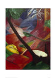 Deer in the Forest II Giclee Print by Franz Marc