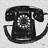 Vintage Analog Phone Poster by Michael Mullan
