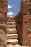 Bolivia, Tiwanaku, Kalasasaya Temple, Pre-Columbian Site, Ancient Architecture Photographic Print by Kymri Wilt
