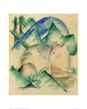 Red Deer Posters by Franz Marc