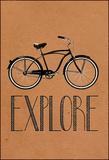 Explore Retro Bicycle Płótno naciągnięte na blejtram - reprodukcja