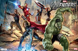 The Avengers Mural Movie Poster Posters