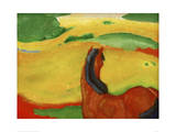 Horse in a Landscape Giclee Print by Franz Marc