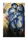 The Tower of Blue Horses Impression giclée par Franz Marc
