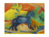 Small Blue Horse 1912 Giclee Print by Franz Marc