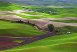 Palouse, Steptoe Butte, Agriculture Patterns, Whitman County, Washington, USA Photographic Print by Michel Hersen