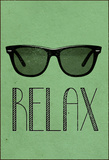 Relax Retro Sunglasses Stretched Canvas Print