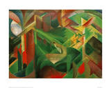 Deer in the Convent Garden Giclee Print by Franz Marc
