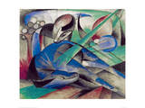 Dreaming horse Giclee Print by Franz Marc