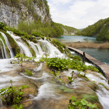 Lower Lakes Cascade in Lake Kaluderovac, Plitvice Lakes, Plitvicka Jezera, Croatia Photographic Print by Martin Zwick