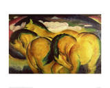 Little yellow horses Giclee Print by Franz Marc