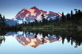 Mt Shuksan from Picture Lake, Mount Baker-Snoqualmie National Forest, Washington, USA Photographic Print by Michel Hersen