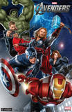 The Avengers Group Movie Poster Print