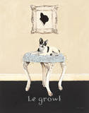Le Growl Poster by Emily Adams