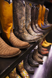 Cowboy Boots, Kemo Sabe Shop, Aspen, Colorado, USA Photographic Print by Walter Bibikow