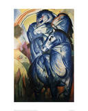 The Tower of Blue Horses Giclee Print by Franz Marc