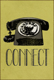 Connect Retro Telephone Stretched Canvas Print