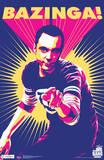 Big Bang Theory Sheldon Bazinga Television Poster Plakater