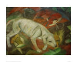 Dog, cat, fox Giclee Print by Franz Marc
