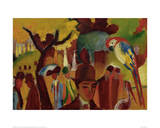 Small Zoological Garden Giclee Print by Franz Marc