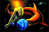 The Relentless Predator by Vincent Monaco Blacklight Poster Affiche