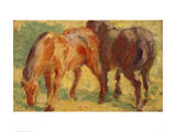 Small Painting of Horses Giclee Print by Franz Marc