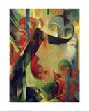 Broken Shapes Giclee Print by Franz Marc