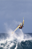 Windsurfing on the Ocean at Sunset, Maui, Hawaii, USA Lámina fotográfica por Gerry Reynolds