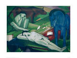 The Shepherds Giclee Print by Franz Marc