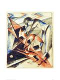 Noah and the fox Giclee Print by Franz Marc