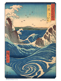 Whirlpool at Naruto, Awa Province Posters af Ando Hiroshige