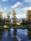 Landscape with Reflection of Lake, Wyoming, USA Photographic Print by Scott T. Smith