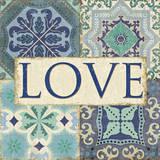 Santorini I - Love Poster by Pela Studio