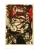 Birth of the Horses Giclee Print by Franz Marc