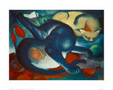 Two Cats, Blue and Yellow Giclee Print by Franz Marc