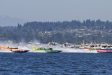 SEAFAIR, Vintage Hydroplane Races, Lake Washington, Seattle, Washington, USA Photographic Print by Jamie & Judy Wild
