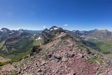 Panoramic View from Summit of Sinopah Mountain, Glacier National Park, Montana Photographic Print by Chuck Haney