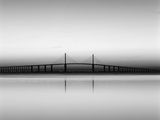 Sunshine Skyway Bridge over Tampa Bay from Fort De Soto Park, Florida, USA Photographic Print by Adam Jones