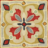 Bohemian Rooster Tile Square III Prints by Daphne Brissonnet