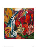 The Waterfall 1912 Giclee Print by Franz Marc