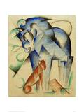 Mythical Creatures Horse and Dog Giclee Print by Franz Marc